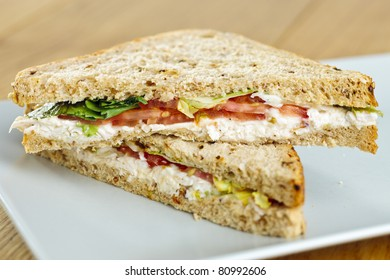 Chicken salad deli sandwich