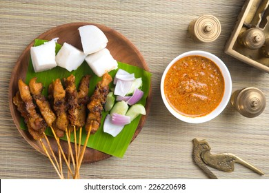 chicken satay shot from top down