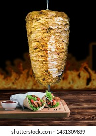 "Chicken shawarma sandwich Featured snippet from the web ""Shawarma is a Levantine Arab meat preparation, where meat is placed on a spit and may be grilled for as long as a day. Shawarma can be served w"