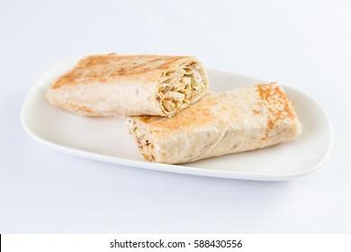 Chicken Shawerma Pita Sandwich in Mediterranean Levantine Cuisine