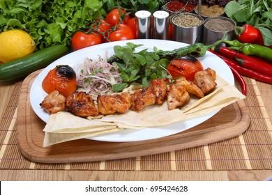 Chicken shish kebab - Turkish Tavuk Sis