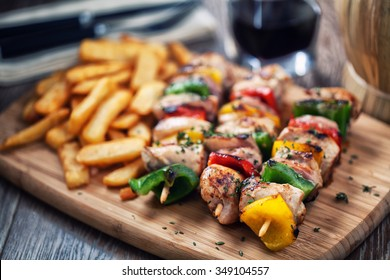 Chicken Skewered with Potatoes