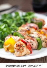 Chicken Skewered with Salad