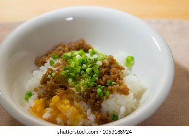 Chicken slobbing rice