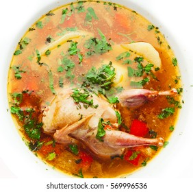 Chicken soup isolated