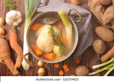 chicken soup and vegetable