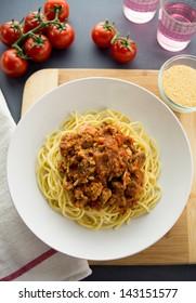 Chicken spaghetti bolognese