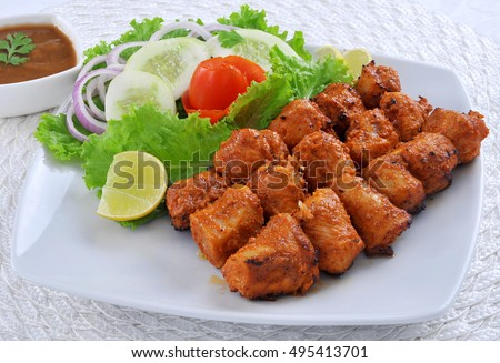 3787ca88ad Chicken Spicy Tikka Boti Stock Photo (Edit Now) 495413701 - Shutterstock