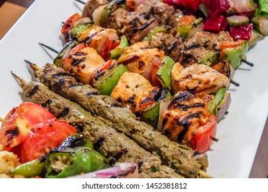 chicken stick kebab stick platter