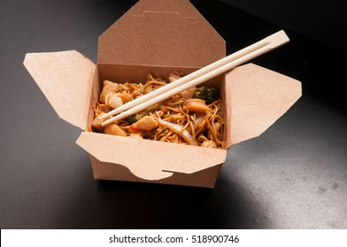 chicken stir fry take out with gluten free noodles, healthy and fat free