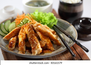 Chicken Teriyaki. One of the best Japanese chicken dishes