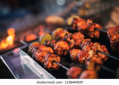 Chicken tikka or kabab City- Kolkata India 15th Feb 2018