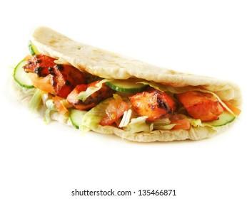 chicken tikka naan sandwich