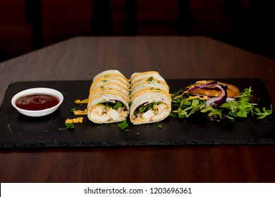 chicken tikka wrap