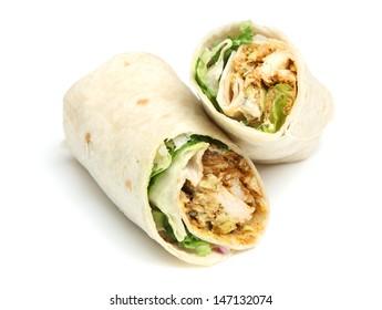 Chicken tikka wrap sandwich