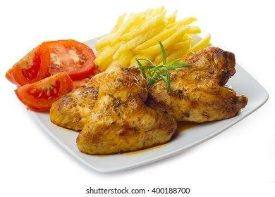 Chicken wings with potatoes