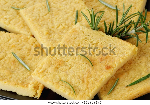 chickpea flour with rosemary