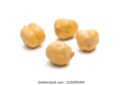 chickpea isolated on white background