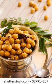 Chickpea snack- Traditional festival food of India, selective focus