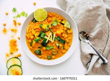 chickpeas Chana Masala - curry dish with chickpeas