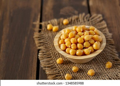 chickpeas on blue wooden surface
