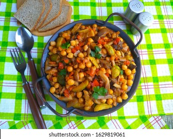 chickpeas with vegetables and mushrooms