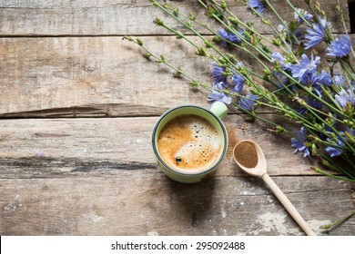 Chicory drinks and flowers