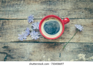 Chicory healthy drink in cup/toned photo