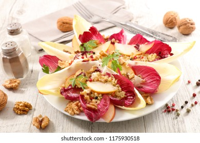 chicory salad with apple and walnut