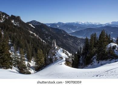 Chiemgau Alps in winter