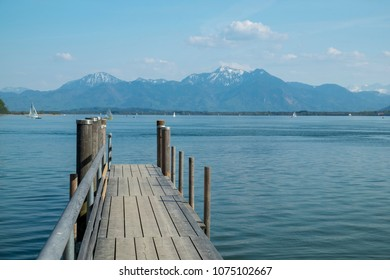 Chiemsee in Germany, Bavaria in spring
