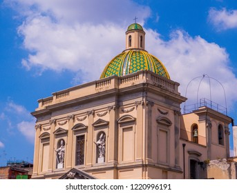 Chiesa di Santa Croce e Purgatorio al Mercato (Church of The Holy Cross and Purgatory at the Market) in Naples, Italy