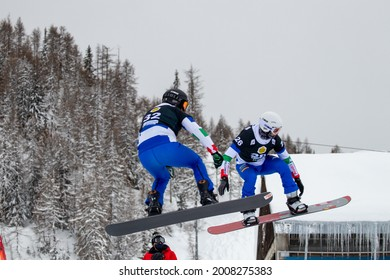 Chiesa in Valmalenco, IT - January 23, 2021 - SBX World Cup Training