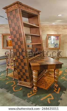 CHIETI, ITALY   APRIL 06: Alice In Wonderland Design Furniture April 06,  2015