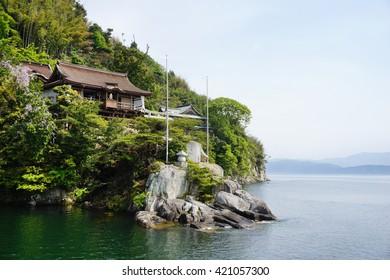 Chikubu island in lake Biwa, SHiga, Japan.