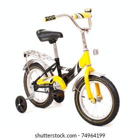 """Child 14"""" bike isolated on white"""