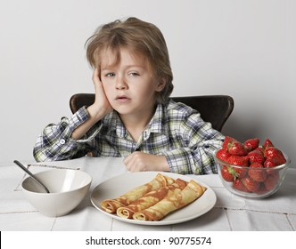 Child 6 years did not want to eat breakfast.