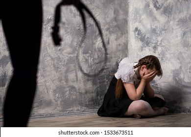 child abuse and cruelty photo concept
