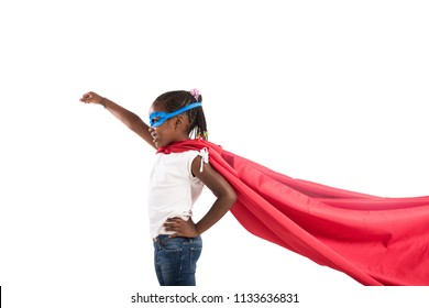 Child acts like a superhero to save the world