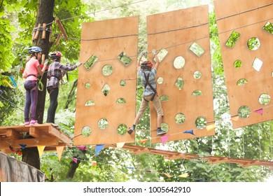 Child in a adventure playground