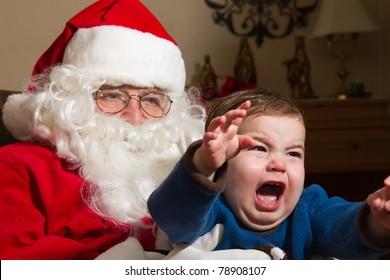 Child Afraid of Santa Claus