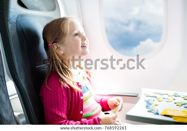 Child Airplane Kid Air Plane Sitting Stock Photo (Edit Now