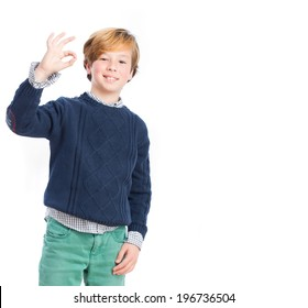 Child with approval gesture