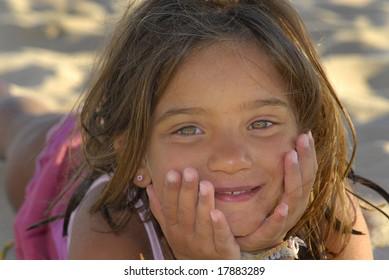 Child in the beach