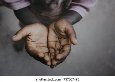 Child Beggar hand