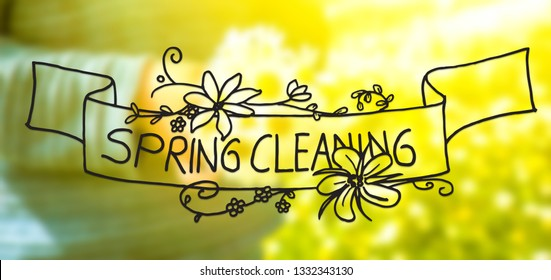 Child, Bouquet Of Daisy Flower, Calligraphy Spring Cleaning