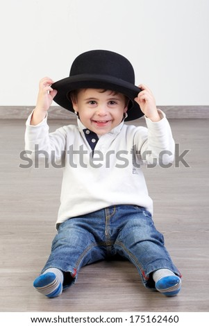 Child Bowler Hat Stock Photo (Edit Now) 175162460 - Shutterstock 834a3d0dfaae