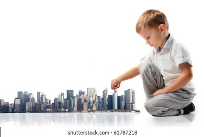 Child building a city