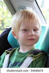 a child in a car