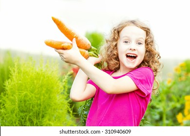 Child with carrot.